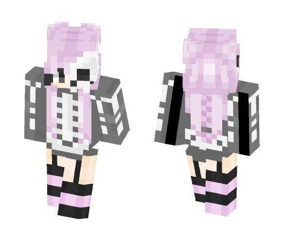 Pastel Skeleton ~ Elec - Female Minecraft Skins - image 1