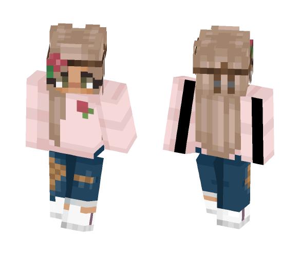 Pretty Rose GIrl - Girl Minecraft Skins - image 1