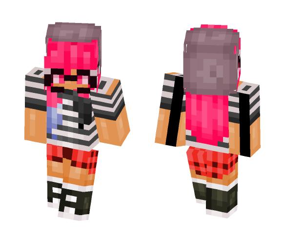 Hipster Pink - Female Minecraft Skins - image 1