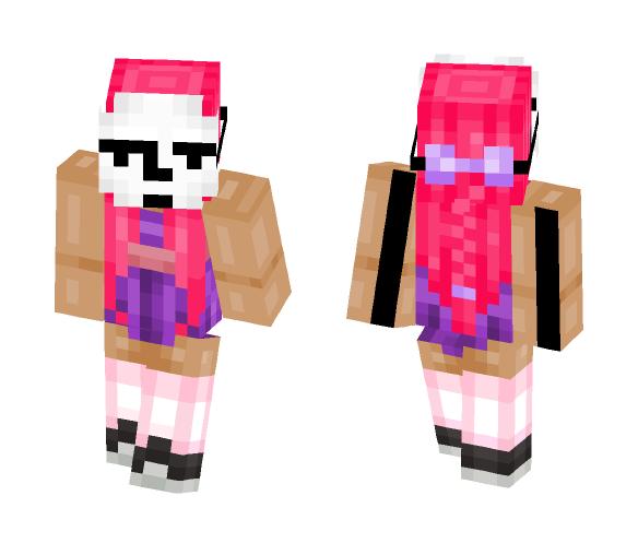 Mask Pink - Female Minecraft Skins - image 1