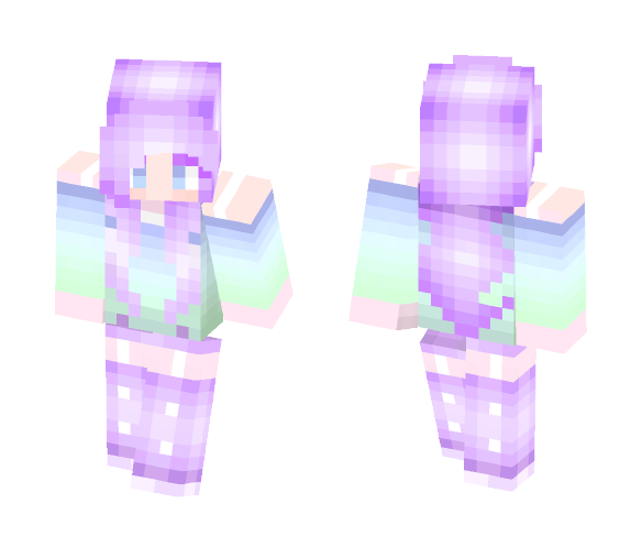 Pastel cutie purple/blue ver. - Female Minecraft Skins - image 1