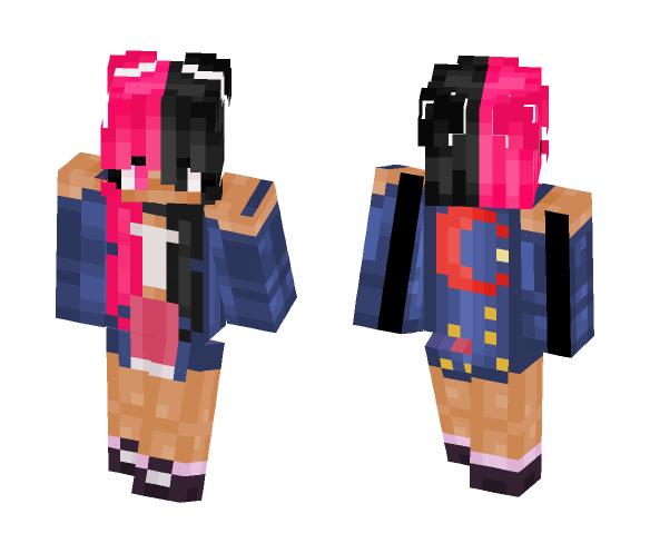 Mono Pink (Black and Pink) - Female Minecraft Skins - image 1