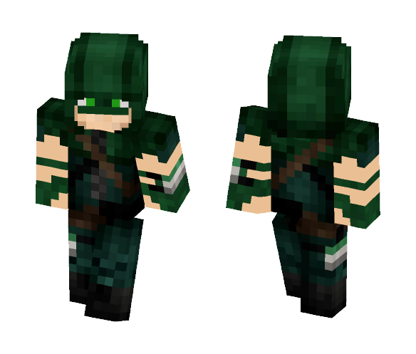 Arqueiro Verde/Oliver Queen. ARROW - Male Minecraft Skins - image 1