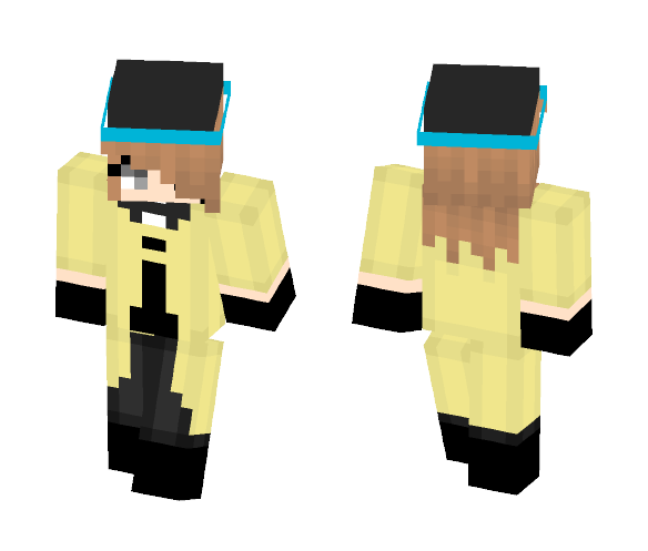 Female ! Bill Cipher Cosplay Base - Female Minecraft Skins - image 1