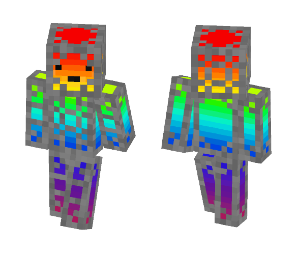 rainbow powered robot - Interchangeable Minecraft Skins - image 1