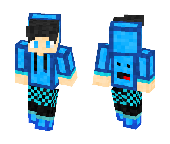 Blue gamer request by -Rainy- - Male Minecraft Skins - image 1
