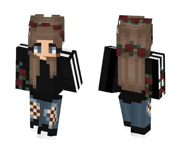 rose girl :) - Girl Minecraft Skins - image 1
