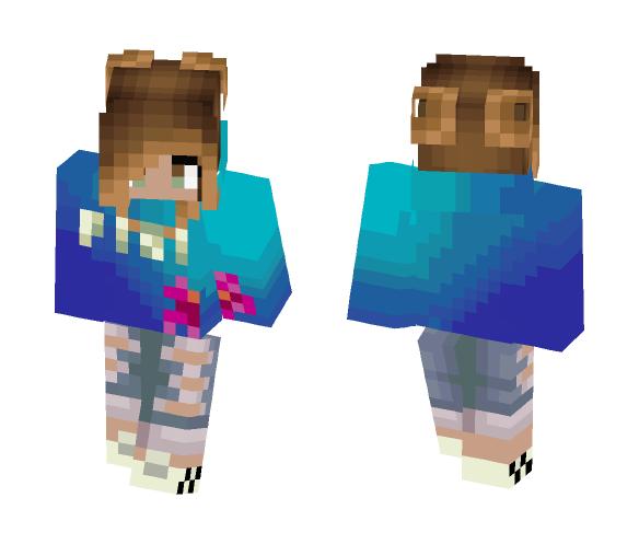 Figi Water Girl - Girl Minecraft Skins - image 1