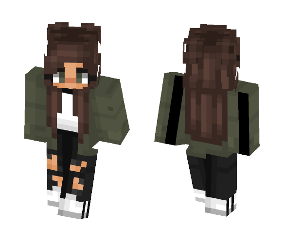 tumblr green adidas - Female Minecraft Skins - image 1