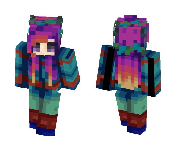Aqua Sunset - Female Minecraft Skins - image 1
