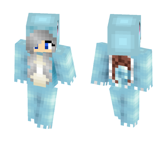 Squirtle girl - Girl Minecraft Skins - image 1