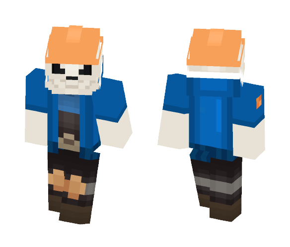 UnderFortress Sans - Male Minecraft Skins - image 1