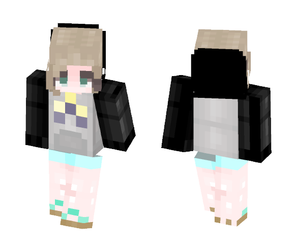 First Skin And Me In Real Life - Female Minecraft Skins - image 1