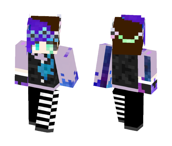 Bleeding Pastel Goth Galaxy - Female Minecraft Skins - image 1