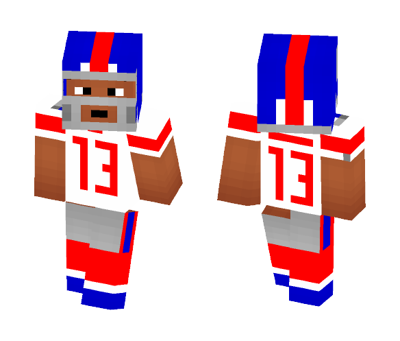Odell Beckham Jr, (GIANTS) - Male Minecraft Skins - image 1