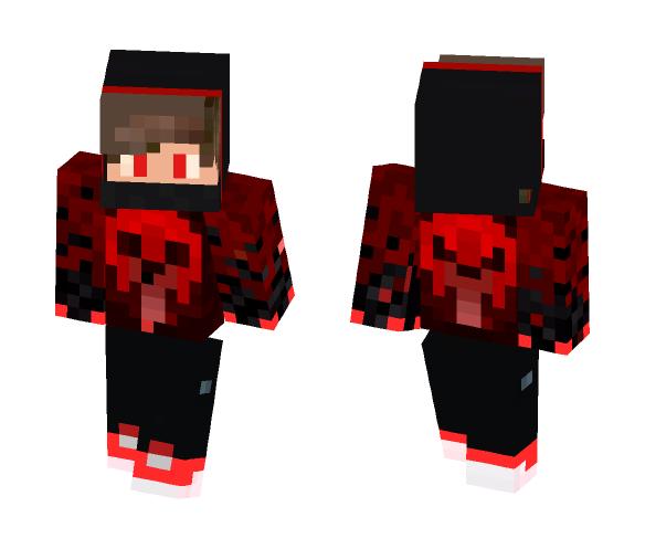 Red skull shirt boy - Boy Minecraft Skins - image 1