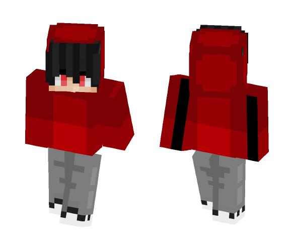 Red Hoodie - Male Minecraft Skins - image 1