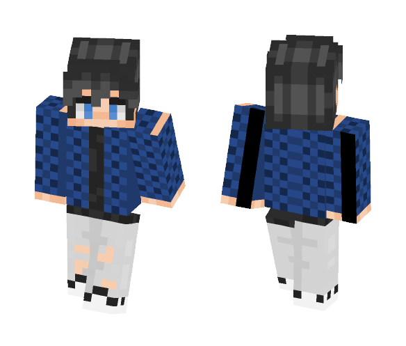 Blue Shirt - Male Minecraft Skins - image 1