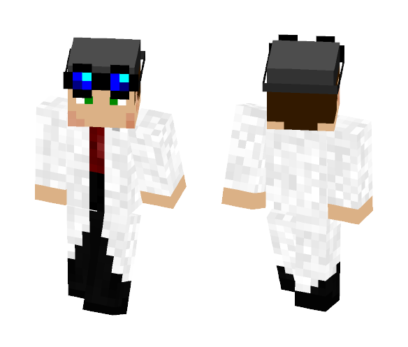 Makeshift Genius - Male Minecraft Skins - image 1