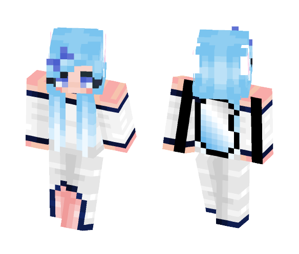 Snow wolf - Female Minecraft Skins - image 1