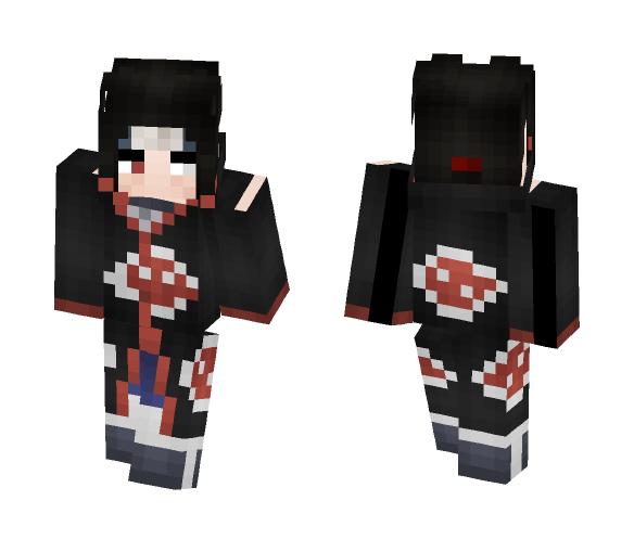 Itachi Uchiha Akatsuki {Izanami} - Male Minecraft Skins - image 1