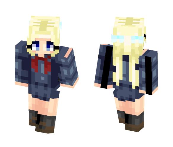 OC- Hidoi (school uniform) - Female Minecraft Skins - image 1