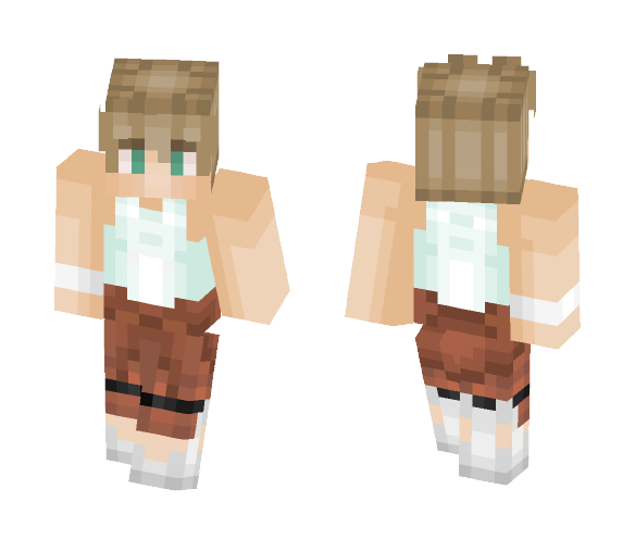 Male Test Subject (Portal 1-2) - Male Minecraft Skins - image 1