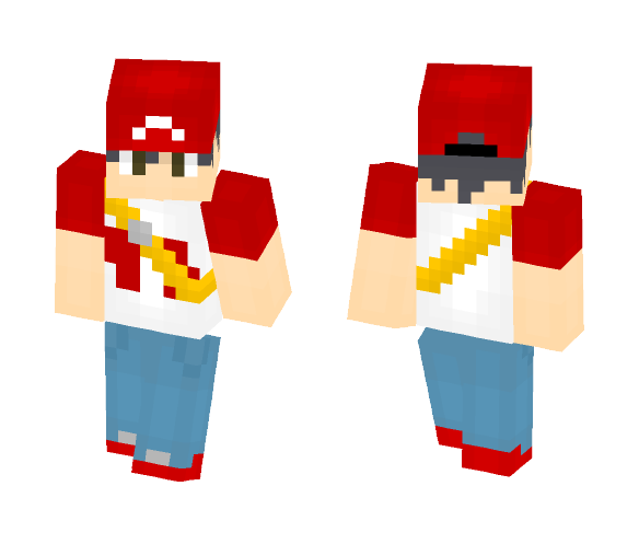 Trainer Red (Adult;Alola) - Male Minecraft Skins - image 1