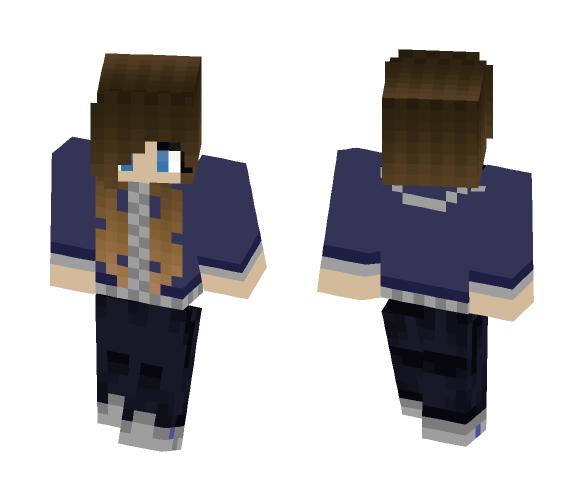 Blue Jacket - Female Minecraft Skins - image 1