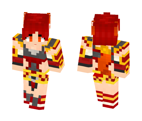 LOL Firefox Ahri - Female Minecraft Skins - image 1