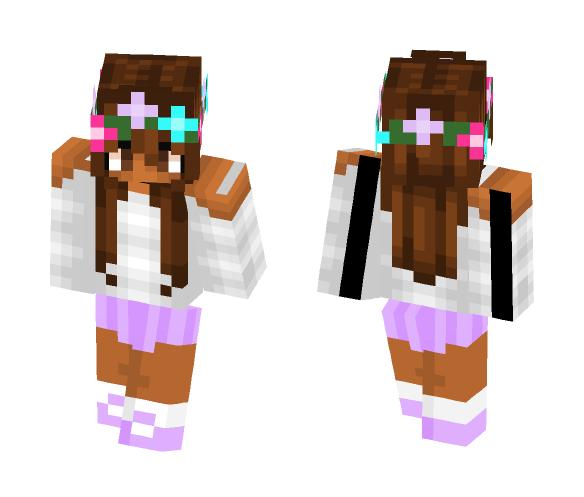Cute flower girl - Cute Girls Minecraft Skins - image 1