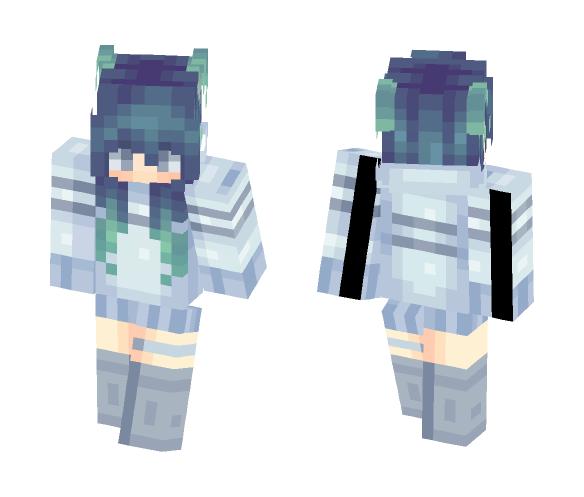Blue Sweater - Female Minecraft Skins - image 1