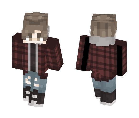 flannel + hoodie - Male Minecraft Skins - image 1