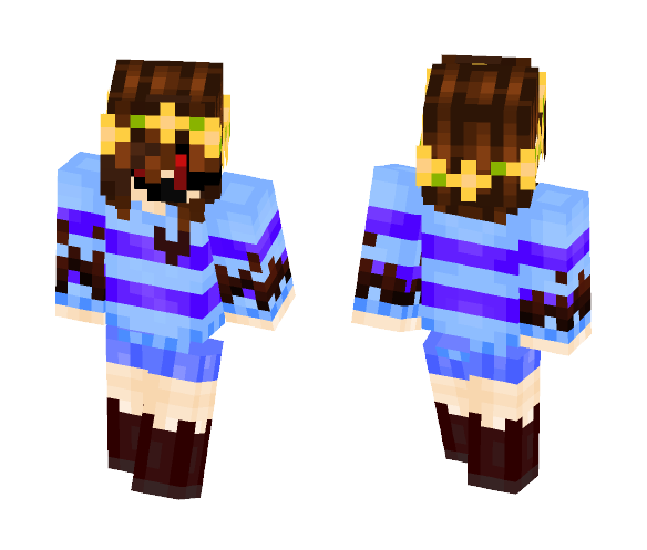 ColorShift Scary Face Frisk - Male Minecraft Skins - image 1