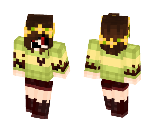 ColorShift Scary Face Chara - Male Minecraft Skins - image 1