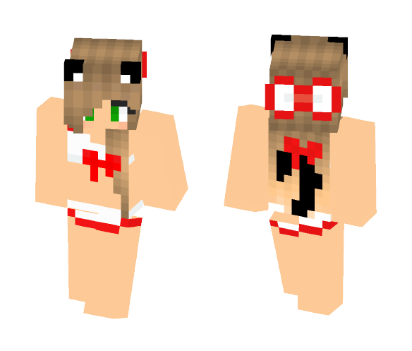 Red and White Swim Wear - Male Minecraft Skins - image 1