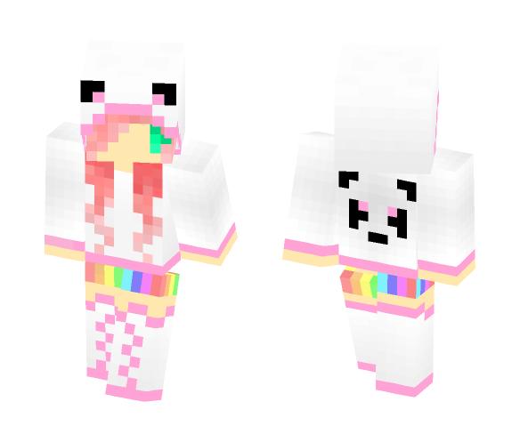 Pastel Pink Panda - Female Minecraft Skins - image 1