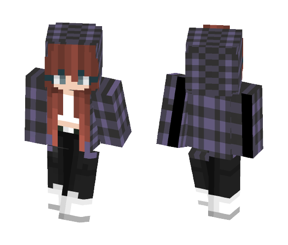 Redheaded Purple - Female Minecraft Skins - image 1