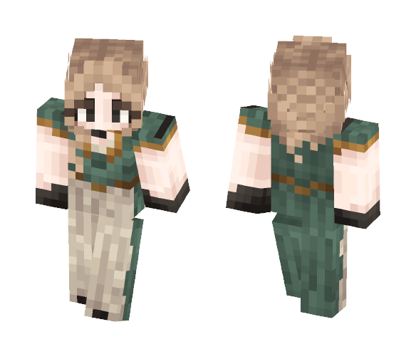 Teal. - Female Minecraft Skins - image 1