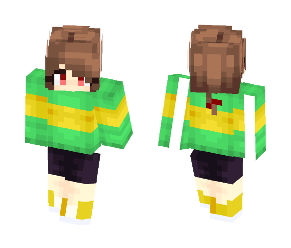 Chara - [Undertale Character] ~ PBP - Female Minecraft Skins - image 1