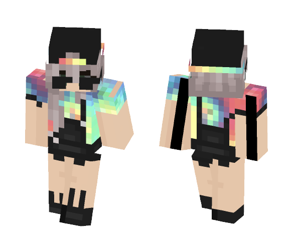 tie dye :^) - Female Minecraft Skins - image 1