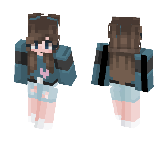 Heart of the ocean. - Female Minecraft Skins - image 1