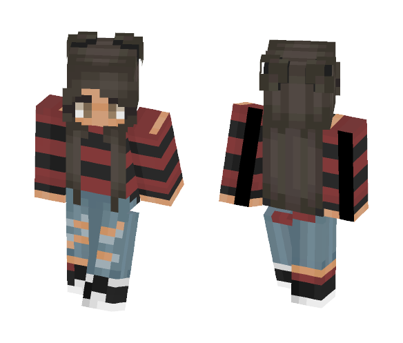 Red and black x - Female Minecraft Skins - image 1