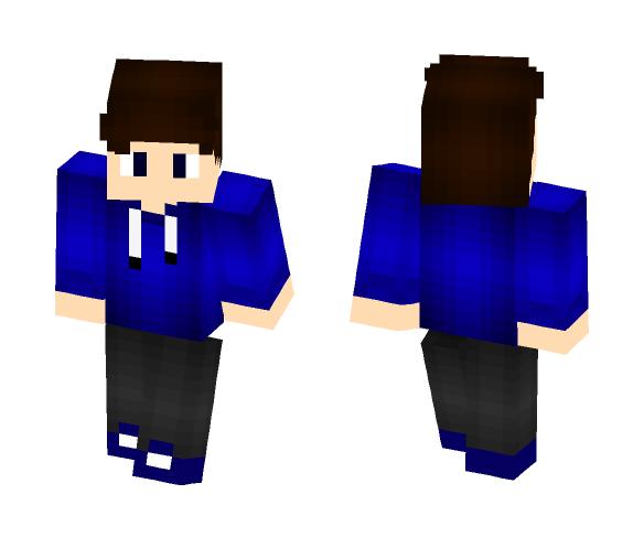 blue boy cool - Boy Minecraft Skins - image 1