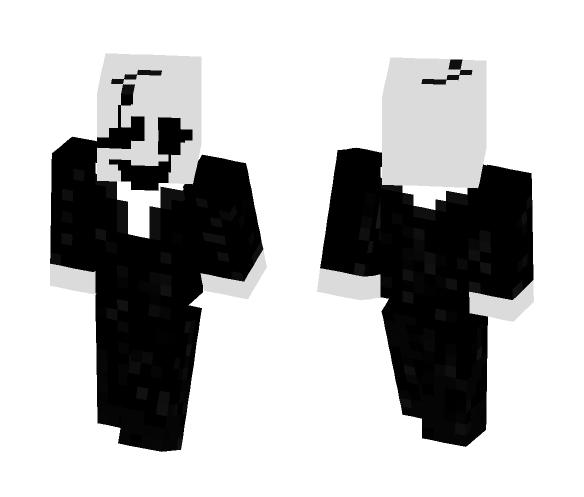Undertale Skin: Dr. W.D. Gaster - Male Minecraft Skins - image 1