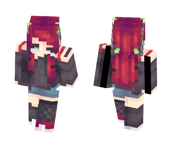 Tears Fall To The Ground - Female Minecraft Skins - image 1