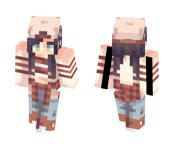 Wine Red - Female Minecraft Skins - image 1