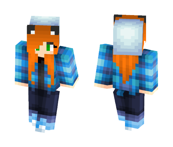 Blue Warmup Jacket - Female Minecraft Skins - image 1