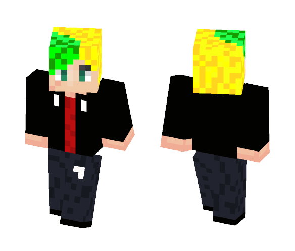Teenager | Green Dyed Hair - Male Minecraft Skins - image 1