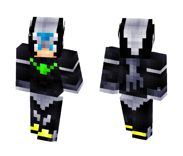 Dark Rockman--RPG GAME CHARACTER - Male Minecraft Skins - image 1